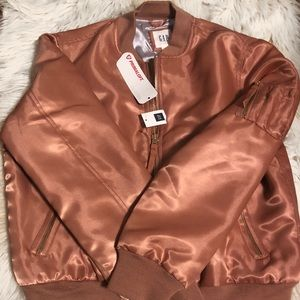 Gap XS Rose Gold Bomber Jacket! New With Tags!
